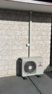 Outside Wall Mounted Air Con Unit