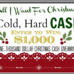 Win $1000.00 Cash towards your Christmas.