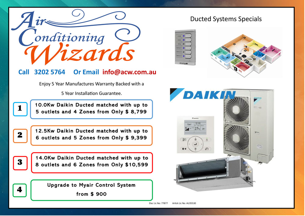 Daikin Ducted System Specials