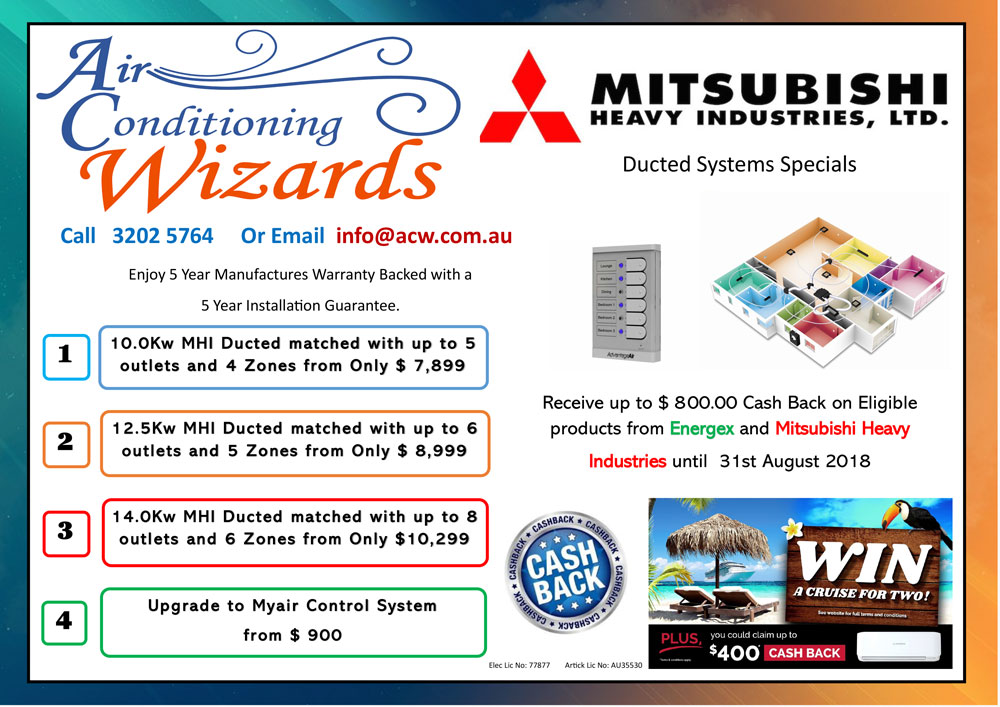 MHI Ducted System Specials